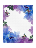 Watercolor Flowers and Butterflies Posters by  Irisangel