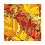 Background with Autumn Leaves Posters by  lolya1988
