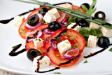 Vegetable Salad with Feta Cheese Photographic Print by  Gresei