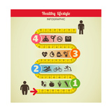 Fitness and Diet Infographic Plakater af Marish