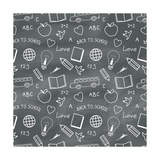 Back to School Chalkboard Pattern Prints by Volkov Roman