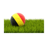 Football with Flag of Belgium Posters by Mikhail Mishchenko
