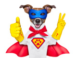 Super Hero Dog Prints by Javier Brosch