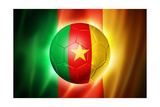 Soccer Football Ball with Cameroon Flag Prints by  daboost