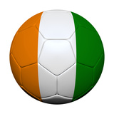 Ivory Coast Flag with Soccer Ball Art by  emrCartoons