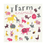 Funny Farm Animals Poster af smilewithjul