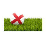 Football with Flag of England Prints by Mikhail Mishchenko