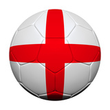 English Flag with Soccer Ball Posters by  emrCartoons