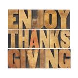 Enjoy Thanksgiving Premium Giclee Print by  PixelsAway