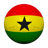 Ghanian Flag with Soccer Ball Prints by  emrCartoons