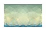 Abstract Triangle Art in Pastel Colors Reproduction giclée Premium par  artnis