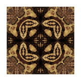 Art Nouveau Geometric Ornamental Vintage Pattern in Beige and Brown Colors Posters by Irina QQQ
