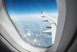 View Through Airplane Window Photographic Print by  mr. Smith