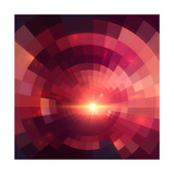 Abstract Red Shining Circle Tunnel Background Posters by  art_of_sun