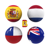 B Group of the World Cup Premium Giclee Print by  croreja