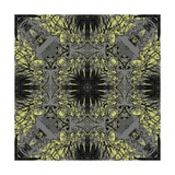 Art Nouveau Ornamental Vintage Pattern in Yellow and Grey Colors Art by Irina QQQ