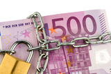 Euro Banknotes with Chain and Padlock Photo by  ginasanders
