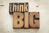 Think Big Photographic Print by  PixelsAway