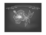 Card with Hibiscus Flower on Chalkboard Posters by  tukkki