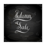 Autumn Sale Hand Lettering, Handmade Calligraphy Premium Giclee Print by Ozerina Anna