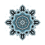 Mandala: Indian Decorative Pattern Premium Giclee Print by  Katyau