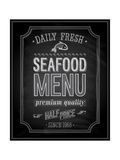 Seafood Poster Chalkboard Posters by  avean