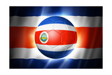 Soccer Football Ball with Costa Rica Flag Art by  daboost