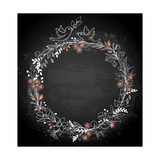 Frame of Flowers on a Black Background Posters by  Artness