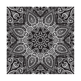 Lace Background: White on Black, Mandala Posters by  Katyau