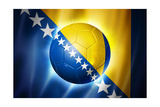 Soccer Football Ball with Bosnia and Herzegovina Flag Posters by  daboost