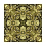 Art Nouveau Geometric Ornamental Vintage Pattern in Green Colors Posters by Irina QQQ
