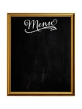 Golden Picture Frame Chalkboard Blackboard Used as Menu Posters by  MarjanCermelj