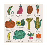 Tasty Vegetables Premium Giclee Print by  smilewithjul