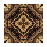 Art Nouveau Geometric Ornamental Vintage Pattern in Beige and Brown Colors Poster by Irina QQQ