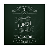 Lunch on the Restaurant Menu Chalkboard Posters by  incomible
