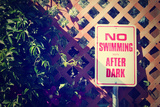 A No Swimming Comic Sign Photographic Print by  graphicphoto