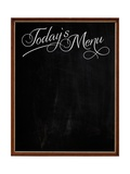 Wooden Picture Frame Chalkboard Blackboard Used as Today's Menu Print by  MarjanCermelj