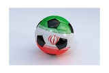 Soccer Ball with Iran Flag Posters by  BarbraFord