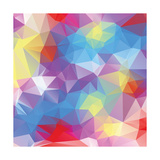 Abstract Triangle Background Posters by Dmitriy Sergeev