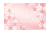 Shabby Chic Cherry Blossom Background Posters by  norwayblue