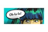 Woman Peeking Out, Cartoon Comics Speech Bubble Arte por  lavitrei