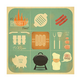 Barbecue Menu BBQ Prints by  elfivetrov