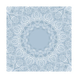 Lace Background: Mandala Premium Giclee Print by  Katyau