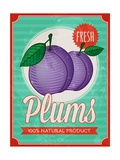 Vintage Styled Fresh Plums Prints by  Marvid