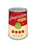 Can of Condensed Tomato Soup Inspiration Prints by  AnnaRassadnikova