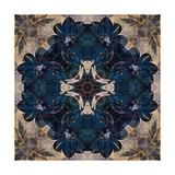 Art Nouveau Geometric Ornamental Vintage Pattern in Beige and Blue Colors Prints by Irina QQQ