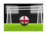Soccer England Premium Giclee-trykk av  koufax73