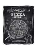 Chalk Pizza with the Cut Off Slice Premium Giclee Print by  Selenka