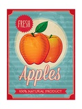 Vintage Styled Fresh Apples Posters by  Marvid