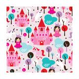 Kids Princess Castle and Unicorn Illustration Background Pattern Prints by Maaike Boot